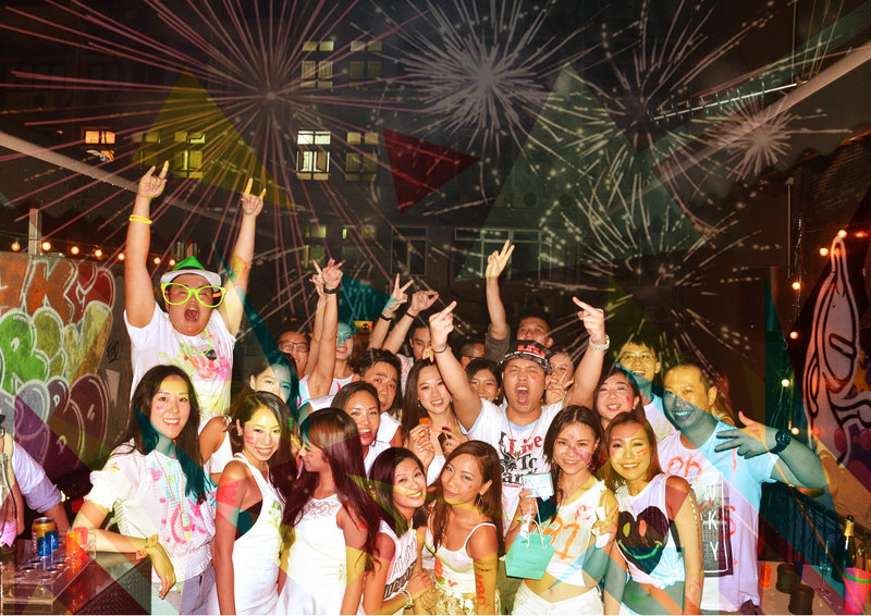 Party Room 中環 Hong Kong hk 香港 玩樂活動 Chalk Party  - Lan Kwai Fong Central PRIVATE Party Experience 適合 20 至 50 人