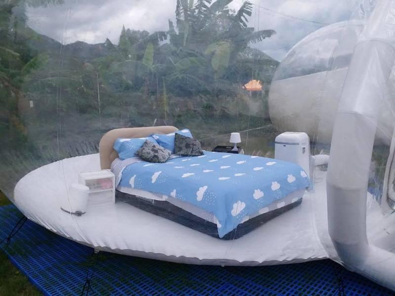 戶外玩樂 天水圍 Hong Kong hk 香港 玩樂活動 白泥日落波子營帳 - 全透明波子營 適合 1 至 2 人
