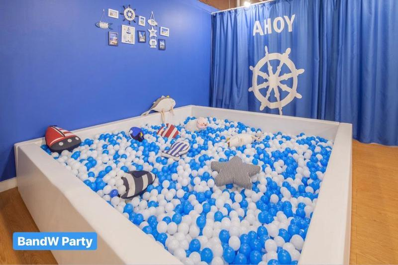 Party Room 火炭 Hong Kong hk 香港 玩樂活動 Party Blue and White 適合 10 至 80 人