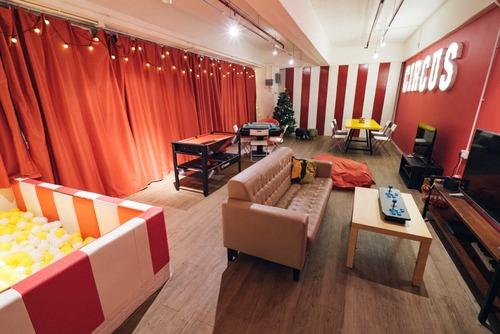 Party Room 荃灣 Hong Kong hk 香港 玩樂活動 場地 C-Dwell Party Room - 紅白馬戲團主題房 適合 8 至 30 人