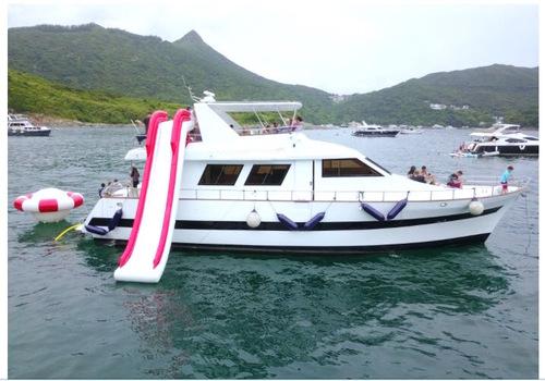 遊艇派對  Hong Kong hk 香港 玩樂活動 場地 60呎大型遊艇 輕鬆玩樂體驗(51人或以下) 適合 1 至 51 人
