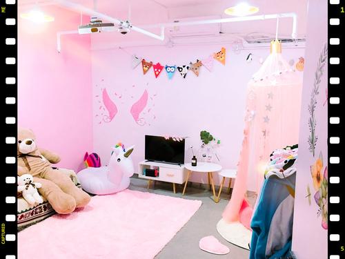 Party Room 新蒲崗 Hong Kong hk 香港 玩樂活動 場地 Strawberry Party - 粉紅城堡 適合 2 至 16 人