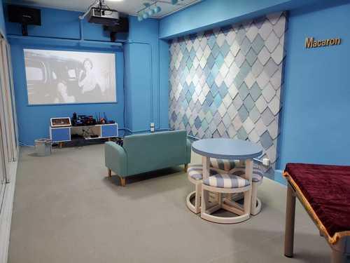 Party Room 旺角 Hong Kong hk 香港 玩樂活動 場地 Open Parties - 馬卡龍房(藍) 適合 10 至 60 人
